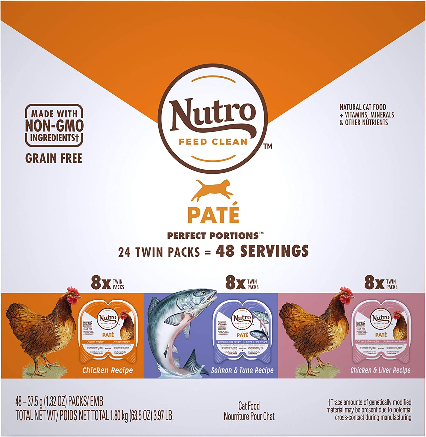 NUTRO Perfect Portions Grain FreeNatural Wet Cat Food, Paté