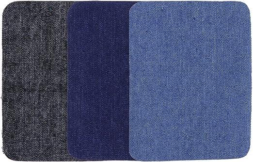 SUPVOX 15pcs parches de hierro en parches Jeans parches suéteres camisa codos parche rodilla (negro, azul oscuro y azul claro): Amazon.es: Hogar