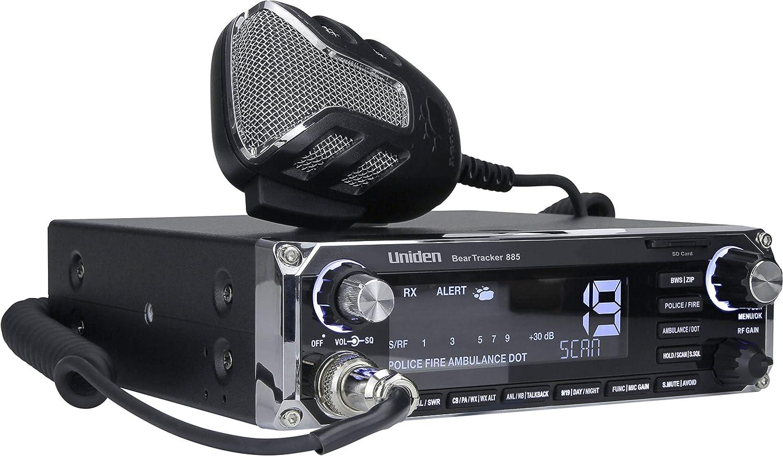 Uniden BEARTRACKER 885 Hybrid Full-Featured CB Radio Digital TrunkTracking Police//Fire//Ambulance//DOT Scanner w//BearTracker Warning System Alerts 4-Watts Power 7-Color Display. 40-Channel CB