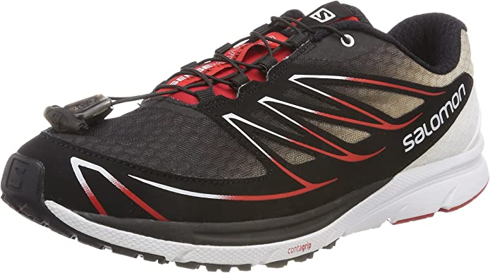 Salomon L37914200, Zapatillas de Trail Running para Hombre, Negro (Black/White/Radiant Red), 48 EU: Amazon.es: Zapatos y complementos