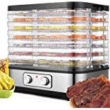 Food Dehydrator with Digital Temperature Control,Electric 7-Trays Meat Dehydrator Machine BPA Free Multi-Tier for Beef Jerky/