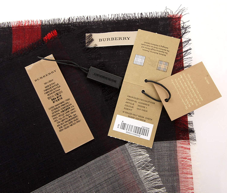 dde49491989a Burberry écharpe homme en laine mu gauze blu  Amazon.fr  Vêtements et  accessoires