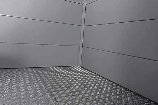 Telluria 2424 - Placa de suelo para jardín de acero (15, 24 cm): Amazon.es: Jardín