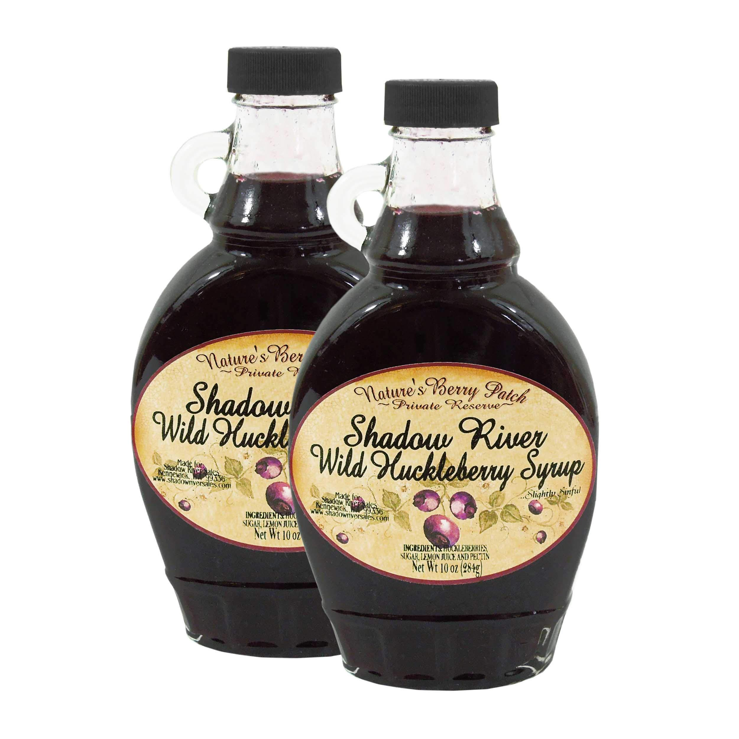 Shadow River Wild Huckleberry Gourmet Berry Syrup With Real Fruit Pieces, 10 oz Jar - Pack of 2 by Shadow River (Image #1)