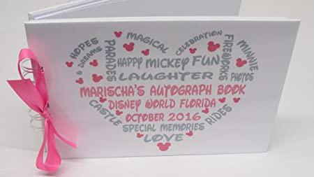 Any occasion PERSONALISED DISNEY MICKEY MOUSE AUTOGRAPH BOOK//SCRAPBOOK in the UK professional laminate gloss film covering front and back outer covers to protect from sticky fingers