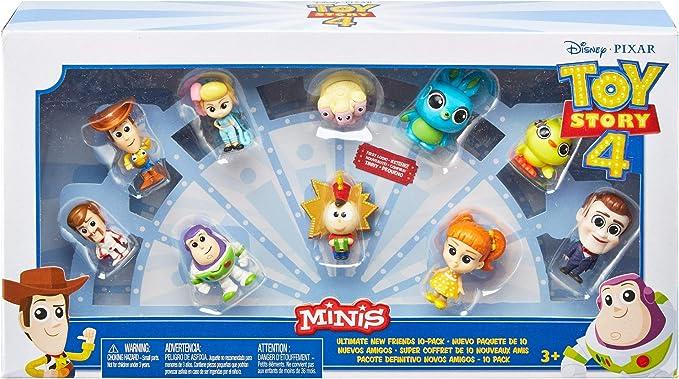 Mattel Disney Toy Story 4 Pack de 10 amiguitos, Mini Figuras Básicas de Los Personajes de La Película (GCY86): Amazon.es: Juguetes y juegos