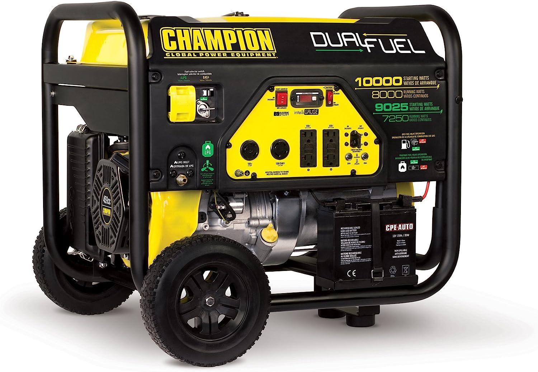 Champion 8000-Watt Dual Fuel Portable Generator