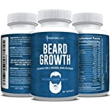 Beard Growth Supplement with Vitamins for a Fuller, Longer, & Thicker Beard | Also Promotes Faster Facial Hair Growth | Natural Complex with Biotin for Healthy & Strong Hair | 60 Capsules