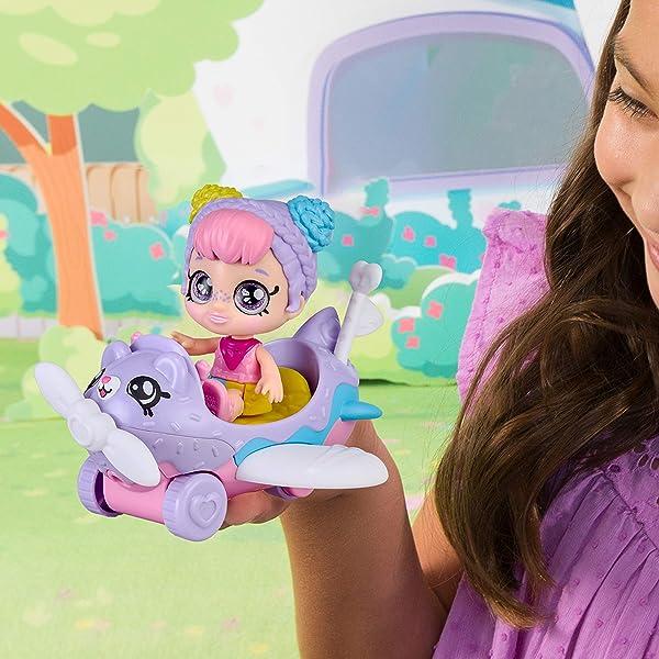 Kindi Kids Minis Rainbow Kate's Airplane miniature collectible dolls