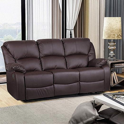 Cungon Online Juego de sofás reclinables de Piel sintética ...