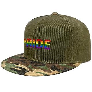 Funny Men Women Cool Dad Snapback Hiphop Hat Breathable Gay Pride Cat