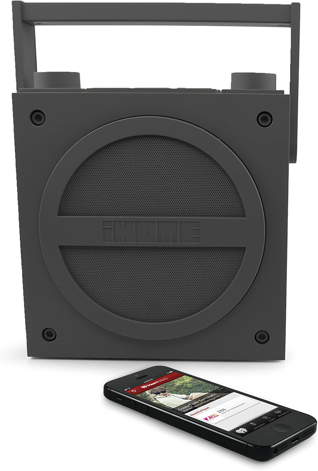 iHome iBT4BC Bluetooth Rechargeable Boombox with FM Radio