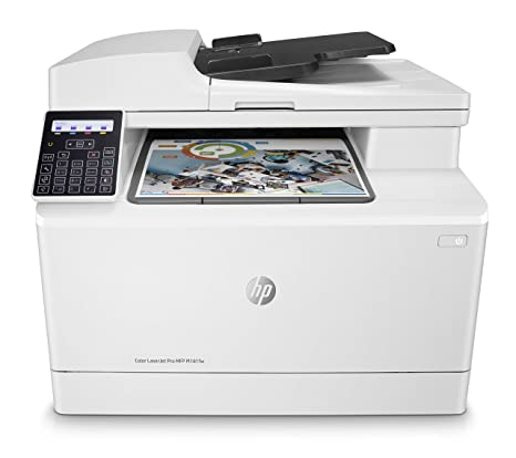 HP Color Laserjet Pro MFP M181fw - Impresora láser multifunción (WiFi, fax, copiar, escanear, imprimir en color, 16 ppm), color blanco