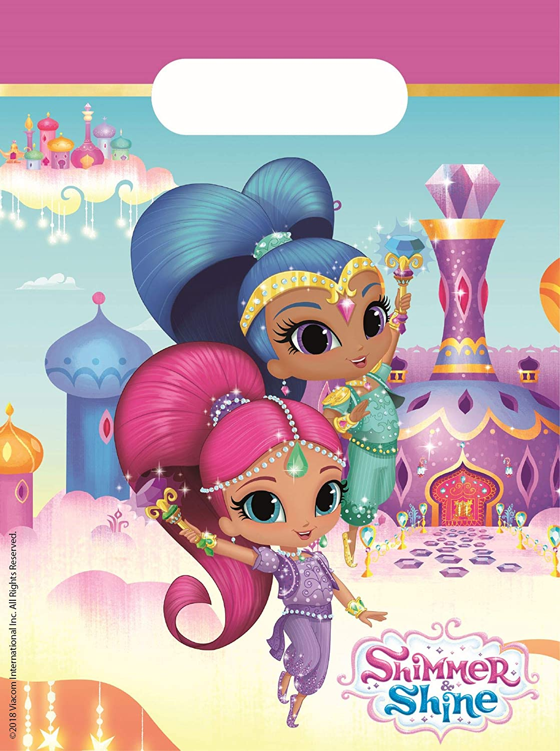 Generique Lote de 6 Bolsas de Regalo Shimmer and Shine ...