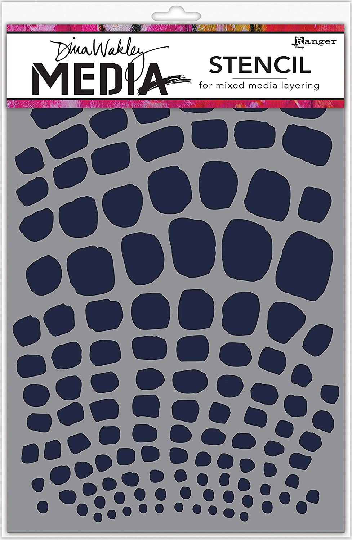 Ranger MDS58281 Dina Wakley Media Stencils 9X6-Scales