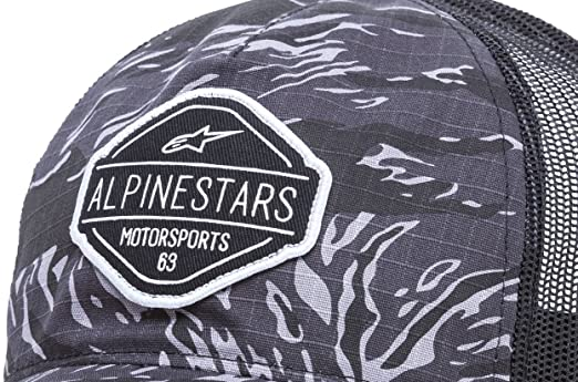 Alpinestars Mens Curved Bill Structured Crown Snap Back Camouflage Flexfit Hat  Flavor Charcoal OS 1018-81013 6c97481fce01