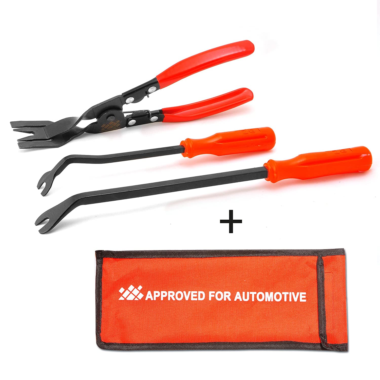 AFA (3 piè ces) Sé rie de pinces et outil pour enlever les fixations. Le né cessaire de ré paration Approved for Automotive