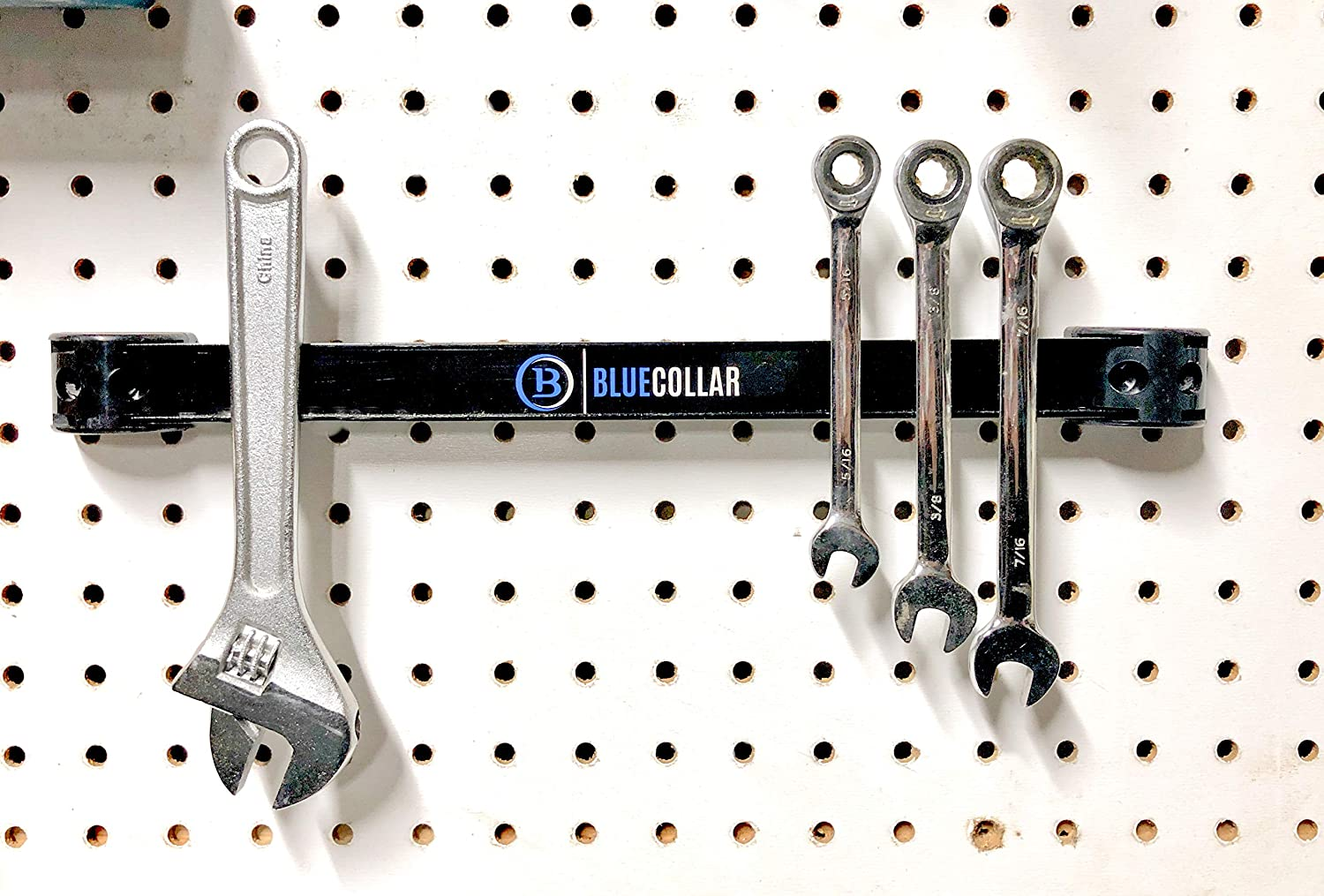 Industrial Mounting Hardware Included Blue Collar Tools 3 Pack of Size 16 Strong Magnet Strip Tool Holder and Hardware Organizer Blue Collar Magnetic Tool Holder Bar Set