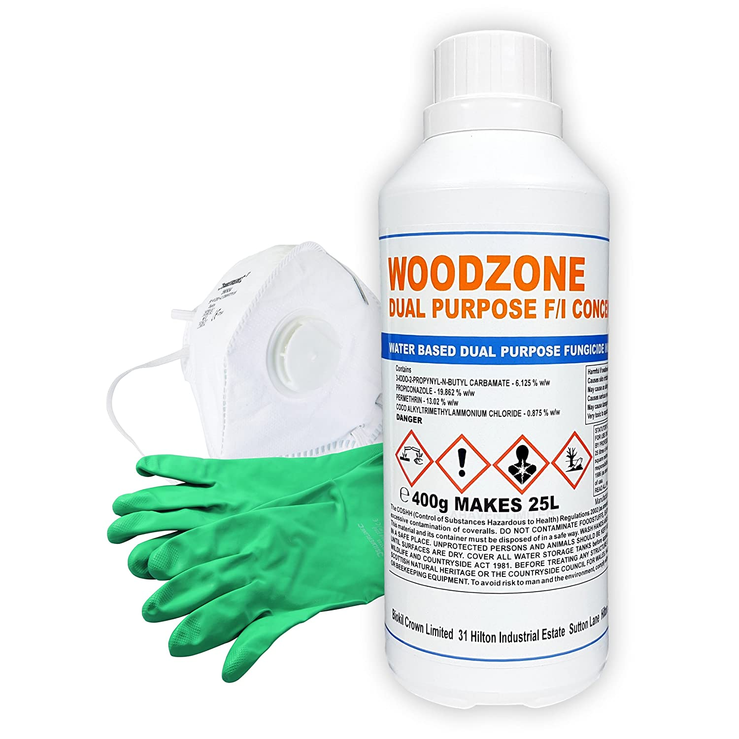 Rempro Duel Fungicide and Insecticide Concentrate Kit Makes 25 Litres - Treatment of Woodworm & Dry Rot Kit Seahaven Limited