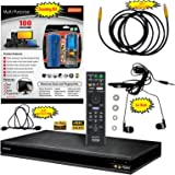 Sony UBP-X800 4K Upscaling Ultra HD Blu-ray Disc Player With Wifi - 6 Pack Kit - Remote Control - 3 Pc Cleaning Kit - 12 FT High speed HDMI Cable - Ear Buds
