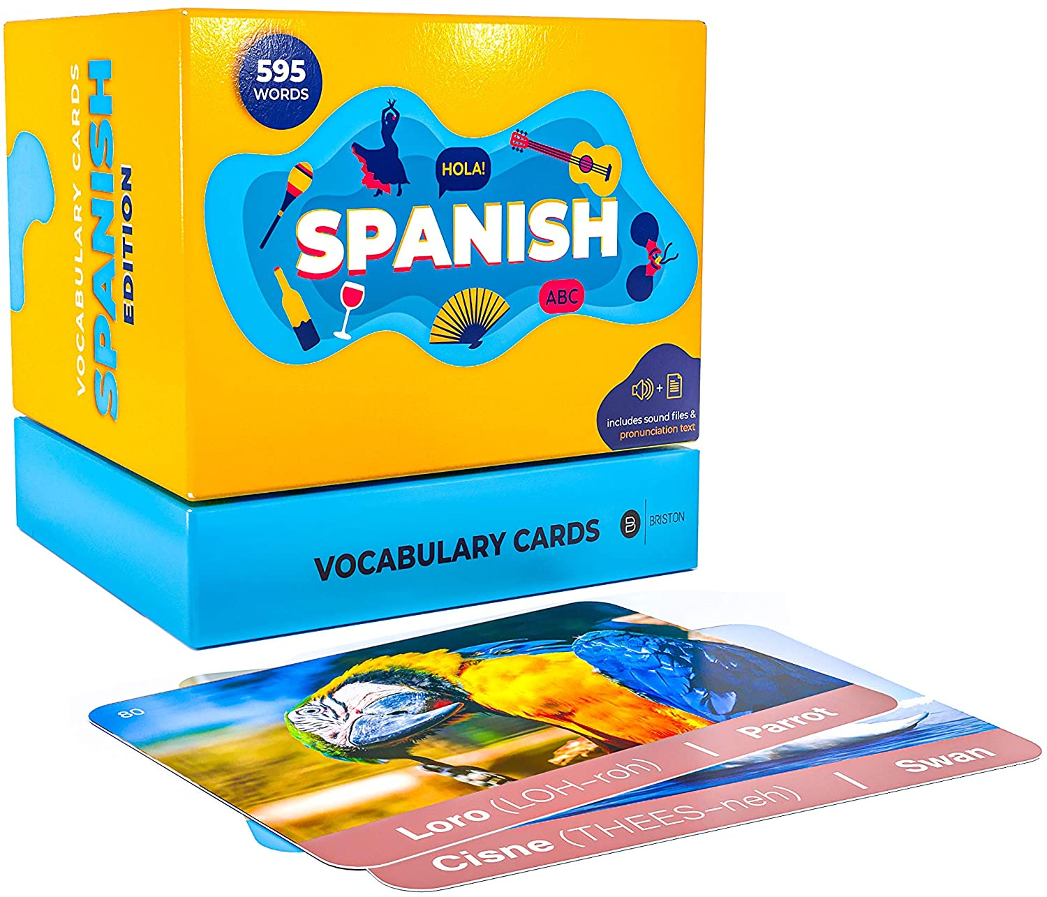 Amazon Com Briston Spanish Vocabulary Learning Flash Cards With Pictures For Beginners Adults And Kids With Text And Audio Pronunciation 595 Words Toys Games It's no wonder that you're finding these spanish prepositions confusing — de and a can have different meanings depending on how they're used. briston spanish vocabulary learning flash cards with pictures for beginners adults and kids with text and audio pronunciation 595 words