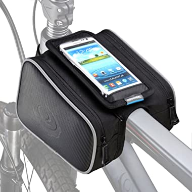 ArcEnCiel Bike Frame Bag Bicycle Top Tube Pouch Waterproof Cell Phone Holder ≤ 5.7  Touch Screen