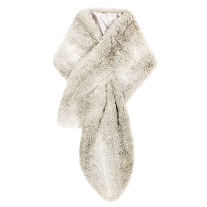 scarpe di separazione bbcb6 88a95 Ruby & Ed scaldacollo in pelliccia sintetica husky: Amazon ...
