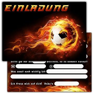 11 Einladungskarten Zum Kindergeburtstag U0026quot;Fussballu0026quot; //  Geburtstagseinladungen Jungen Mädchen Kinder Einladungen Fussballparty