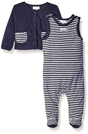 ed13a4b10e28 Amazon.com  ABSORBA Baby-Boys Terry Overall Set- Blue  Clothing