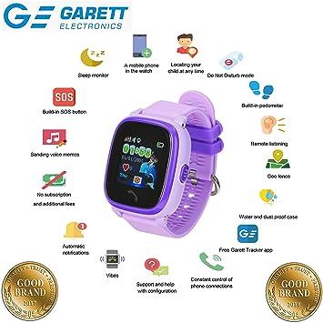 Garett® - Kit de música 4: GPS para niños, Reloj Inteligente GPS,