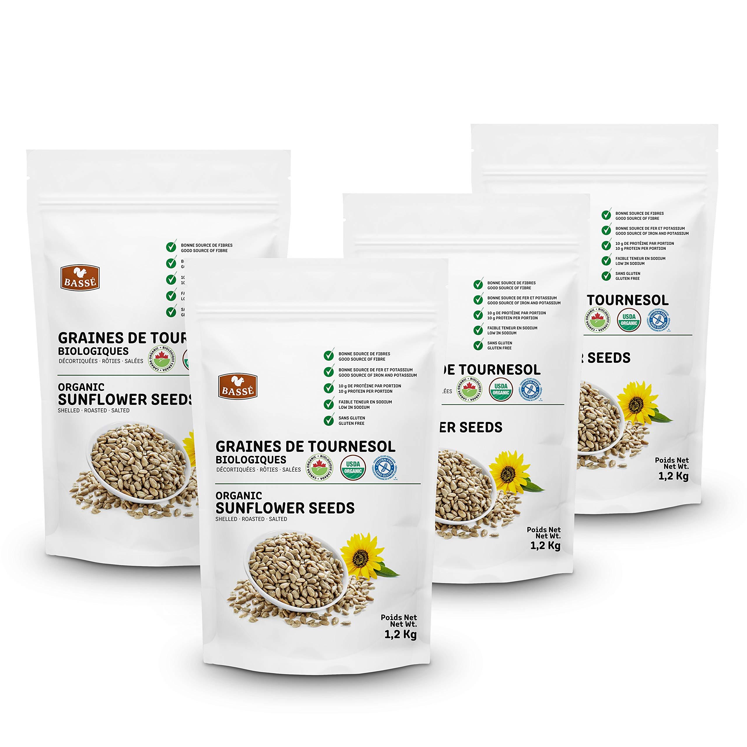 Basse Organic Sunflower Seeds, a Good Source of Fiber, Iron, and Potassium, Gluten Free – Kosher Certified 10.56 lb