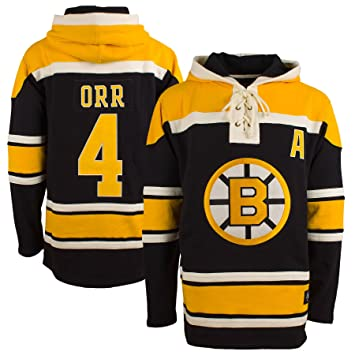 3df3553492c Boston Bruins Bobby Orr '47 Heavyweight Jersey Lacer Hoodie: Amazon ...