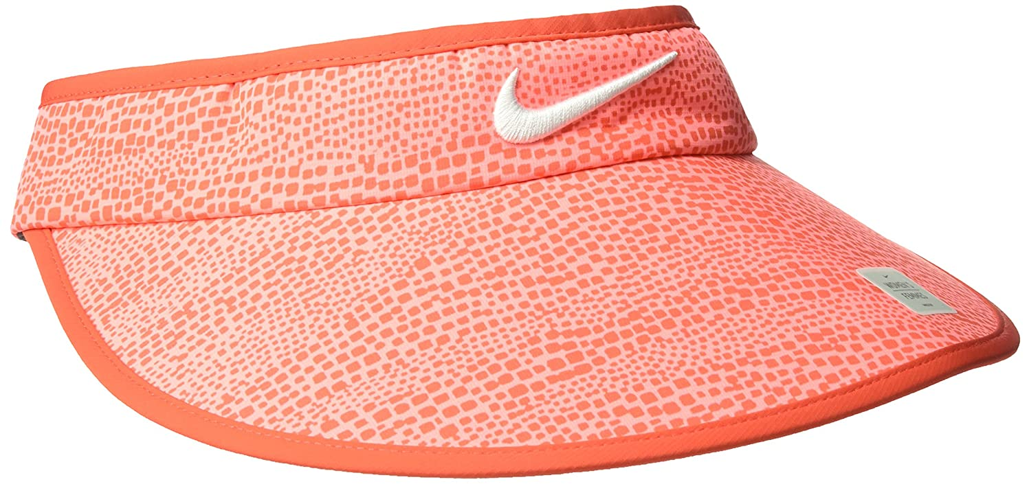 d4cb5e14145746 Amazon.com: NIKE Women's Big Bill Zebra Print Visor, Max  Orange/Anthracite/White, One Size: Clothing