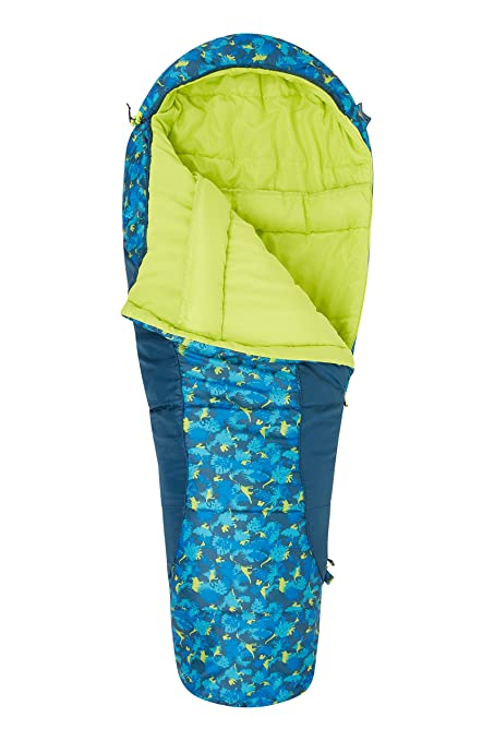 Mountain Warehouse Saco de Dormir Estampado Apex Mini Verde Talla única: Amazon.es: Deportes y aire libre