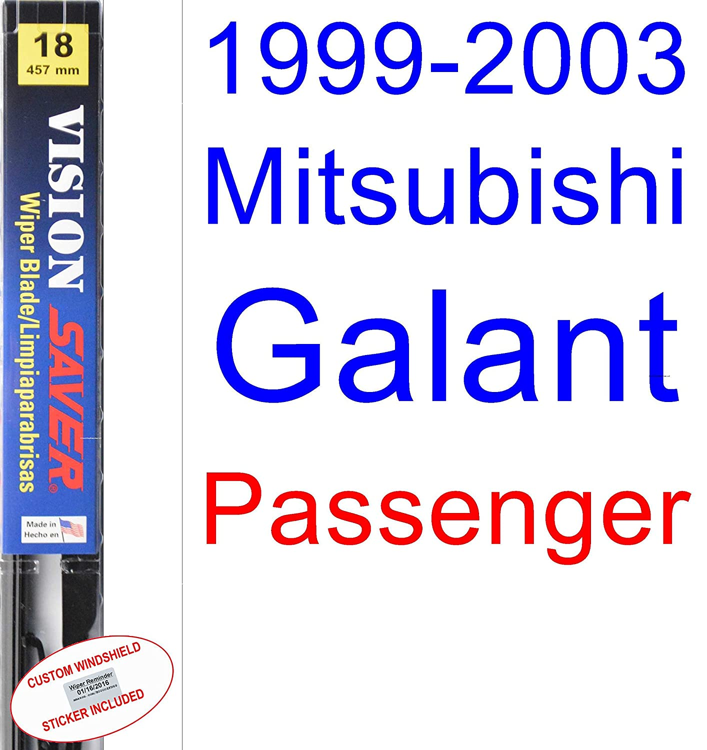 Amazon.com: 1999-2003 Mitsubishi Galant Wiper Blade (Driver) (Saver Automotive Products-Vision Saver) (2000,2001,2002): Automotive