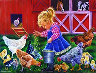 product image for Little Farm Girl 500 Piece Jigsaw Puzzle by SunsOut
