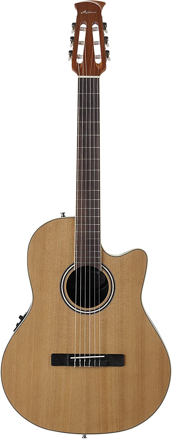 Ovation Applause Guitarra Electro-Acústica Mid Cutaway natural satin AB24CII-CED