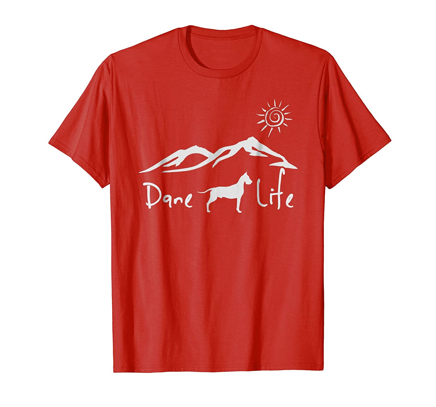 Great Dane Life Funny Pet Dog Love T-shirt-AZP