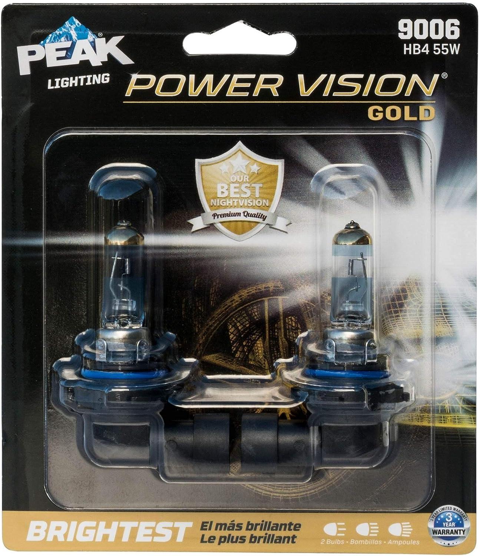 PEAK Power Vision Automotive Performance Headlamp 9006 HB4 2 Pack