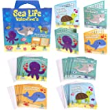 Red Robin Greetings Valentine's Day Cards - Fun Valentine Cards For Kids Sea Life, Word Search Kids Valentines Cards For Boy or Girl (28-Count With Envelopes)