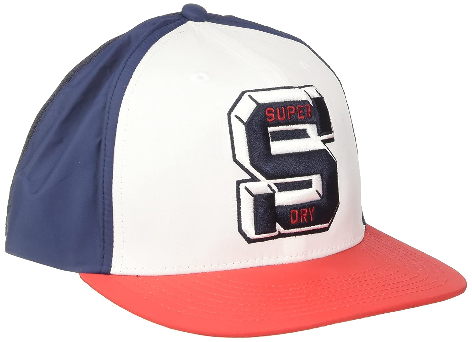 Superdry Super Kingston Cap Gorra de béisbol, Rojo (White/Red/Navy ...