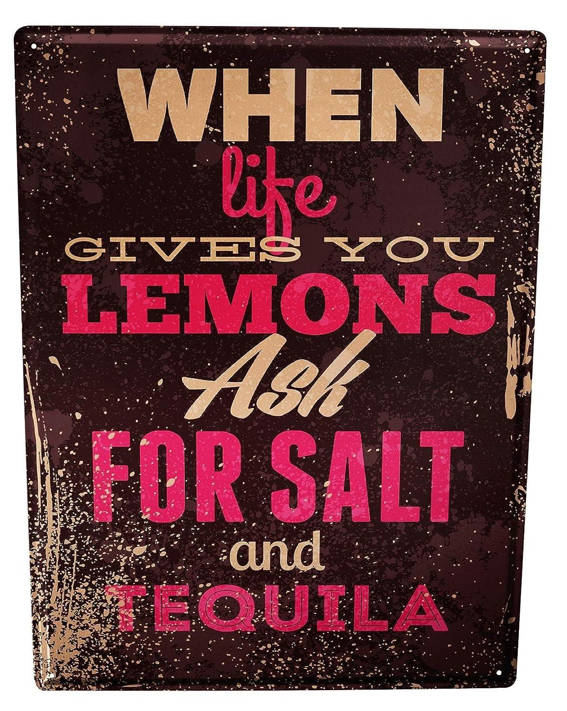 LEotiE SINCE 2004 Cartel Letrero de Chapa Refranes Tequila ...