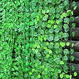 Enredaderas con plantas y flores artificiales, ratán color verde, 2,40 m de longitud, para decoración del hogar, 10unidades, de MyLifeUNIT, plástico, hojas sandía, 95 Inch