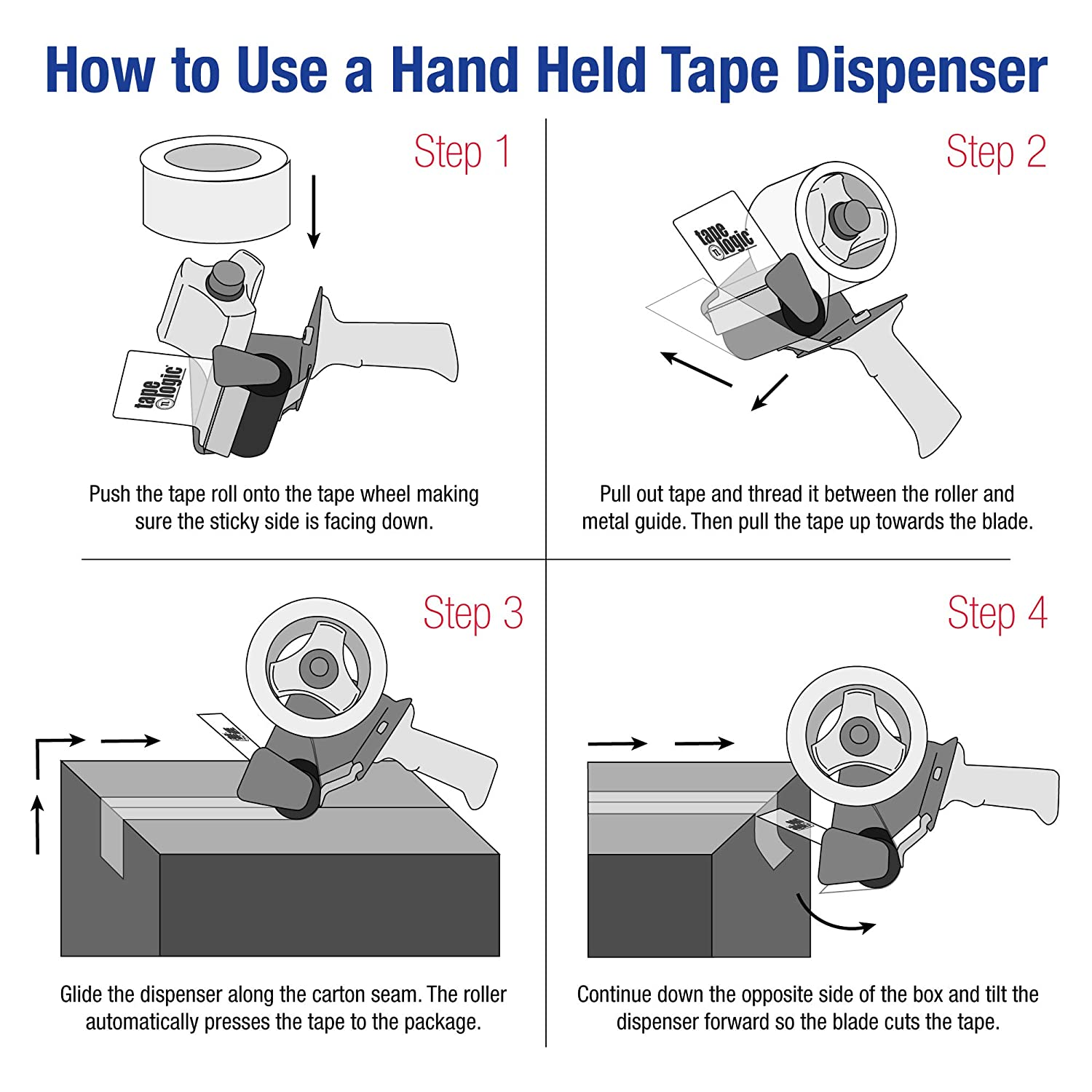 Packing Tape Dispenser How To Load Diagram Manual Guide