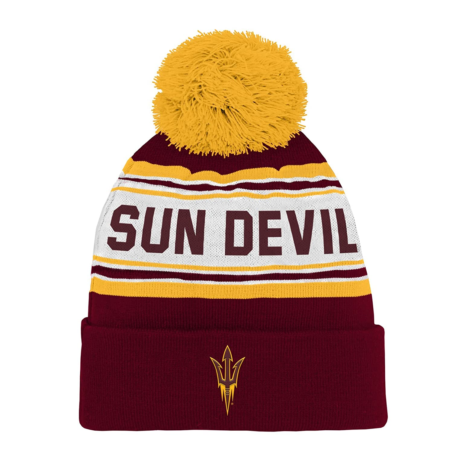 separation shoes c5be5 93bb5 Amazon.com   NCAA by Outerstuff NCAA Arizona State Sun Devils Toddler  Jacquard Cuffed Knit Hat w  Pom, Maroon, Toddler One Size   Clothing