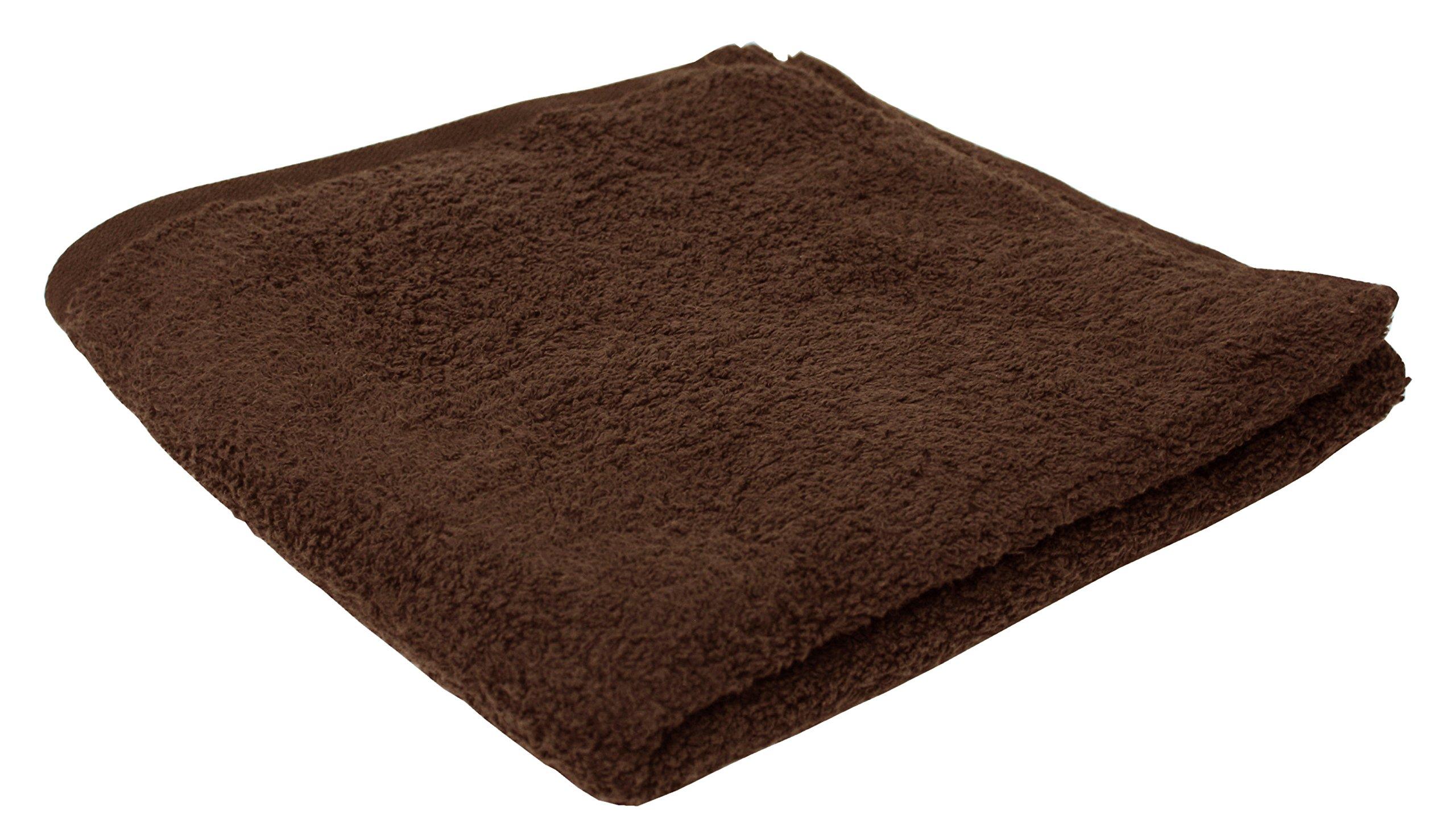 Luxury 36-Piece Bulk Pack Cotton Bath Towel Set, 25x50'', Hotel & Spa Quality, Super Soft and Ultra Absorbent for Bathroom & Washroom-Coffee Brown