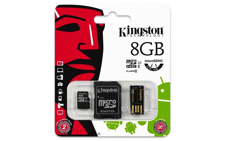 16 GB 4 MB//s Kingston Multi Kit Clase 4 Micro-SDHC con lector USB y un adaptador SD de tama/ño est/ándar