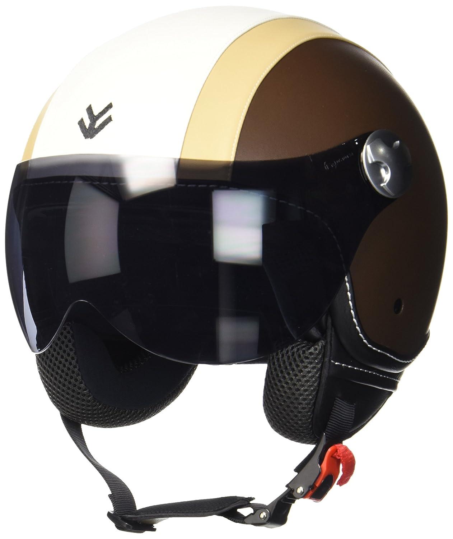 "Armor /· AV-84 /""Matt White/"" white /· Casco Demi Jet /· Scooter Piloto Urbano Helmet Moto Motocicletta /· ECE certificato /· Visor /· Click-n-Secure/™ Clip /· Borsa per il trasporto /· XXL"