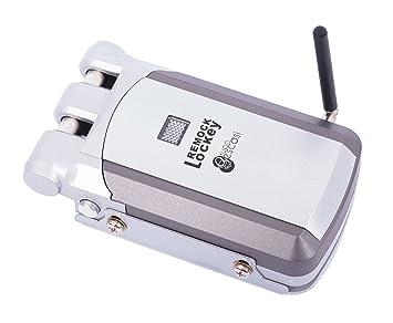 Cerradura de Seguridad Invisible - Remock Lockey con 2 mandos, Plata (nuevo modelo de