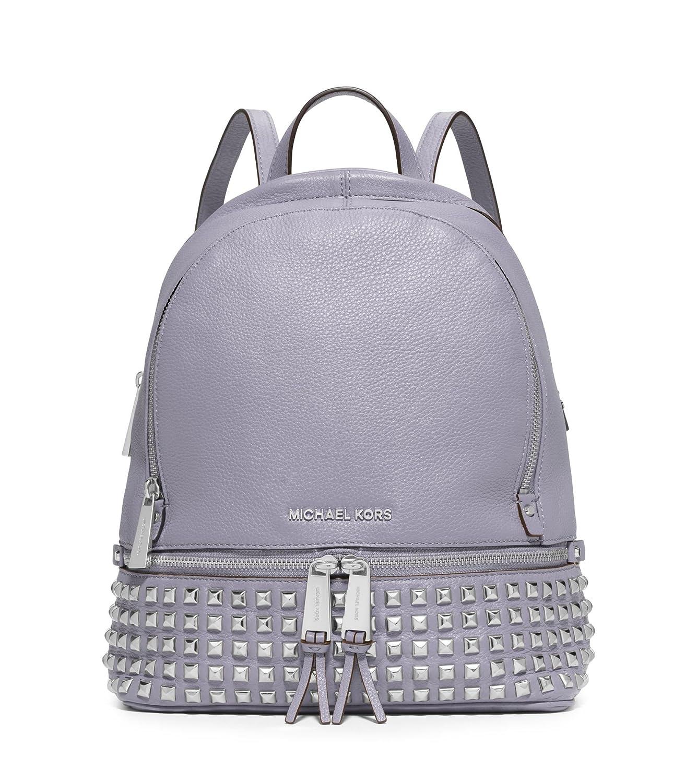 13b115927fb8 Amazon.com: Michael Kors Rhea Women's Small Studded Backpack Bag Leather,  Lilac: Shoes